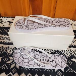 Calvin Klein Flip flops size 8 & 10 NWT